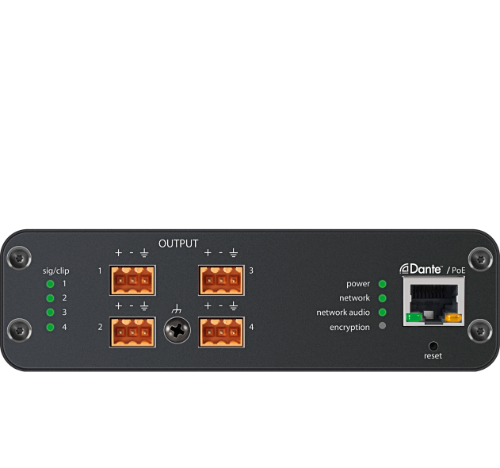 SHURE ANI4OUT-BLOCK / ANI4OUT-BLOCK / 4-Channel Dante Mic/Line Audio Network Interface-Out with Block connectivity / 슈어 정품 / 공식대리점