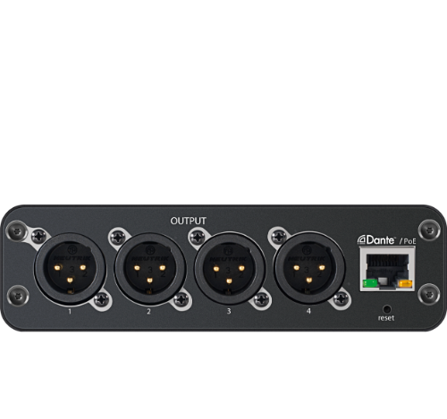 SHURE ANI4OUT-XLR / ANI4OUT-XLR / 4-Ch. Dante Mic/Line Audio Network Interface-Out with XLR connectivity / 슈어 정품 / 공식대리점