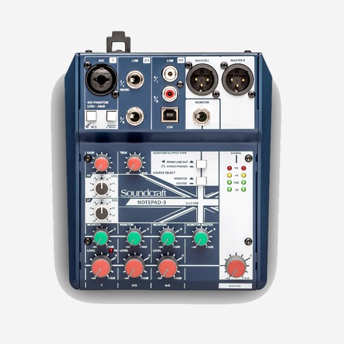 SoundCraft,SOUNDCRAFT NOTEPAD 5 / NOTEPAD-5 / NOTEPAD5 / 아날로그 믹서 / 정품 대리점