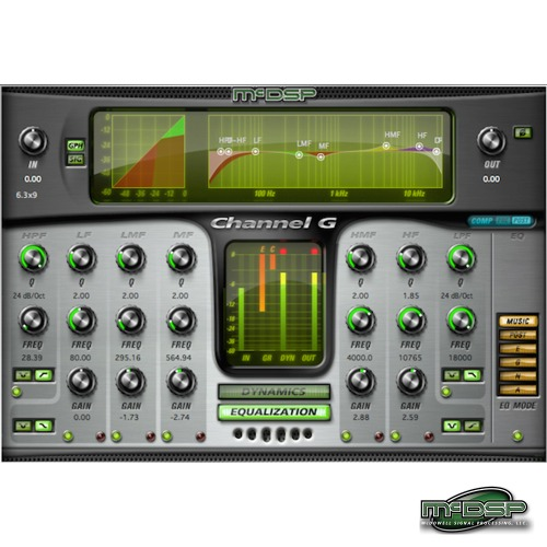 McDSP Channel G Native (EDU) / 3가지 플러그인(Dynamic, Equalizer, Console) - Native 용 / 정품