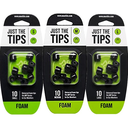 MACKIE MP Series Foam Black Tips Kit | 맥키