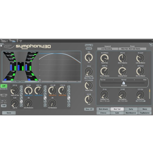 Exponential Audio Symphony 3D Surround Reverb Plug-in / 심포니3D 서라운드 리버브 플러그인 / 정품