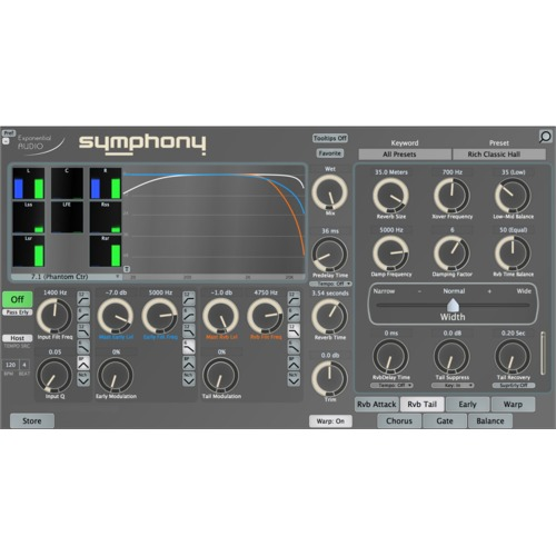 Exponential Audio Symphony Standard Surround Reverb Plug-in / 기본 심포니 서라운드 리버브 플러그인 / 정품