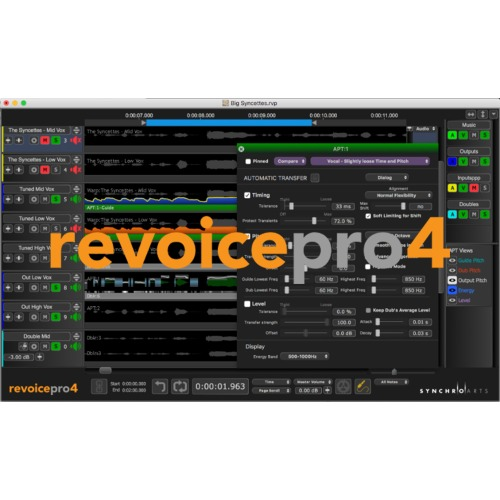 Synchro Arts Revoice Pro license for VocALign Project 3 owners / VocALign Project 3 소유자 구매 전용 제품 / 정품