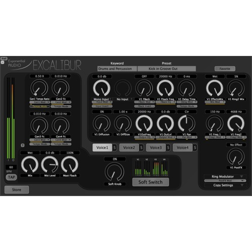 Exponential Audio Excalibur Multi-Effects Plug-in / 스테레오 멀티 이펙트 플러그인 / 정품