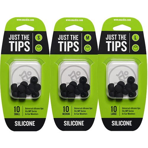 MACKIE MP Series Silicone Black Tips Kit | 맥키 이어킵