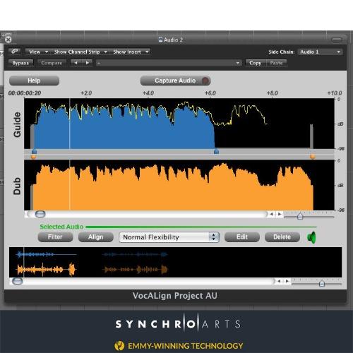 Synchro Arts VocALign Project 3 license for Revoice Pro 4 owners / Revoice Pro 4 소유자 구매 전용 제품 / 정품