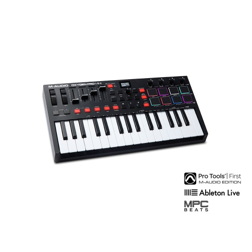 M-Audio M-Audio Oxygen Pro Mini / 32-Mini-Key USB MIDI Controller w/Smart Controls and Auto-Mapping / 엠오디오 / 정품 / 미디