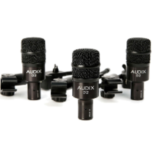 AUDIX D2 TRIO 3피스 마이크 패키지 / 3-Piece Drum Microphone Package / 정푼